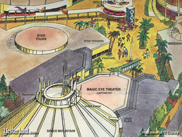 Excerpt from 1987 Disneyland souvenir map