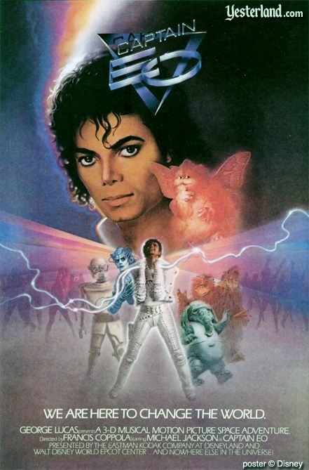 Captain EO poster, copyright Disney