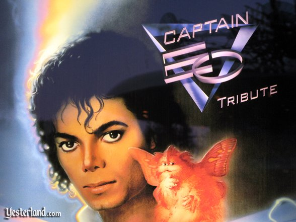 top of Captain EO Tribute poster