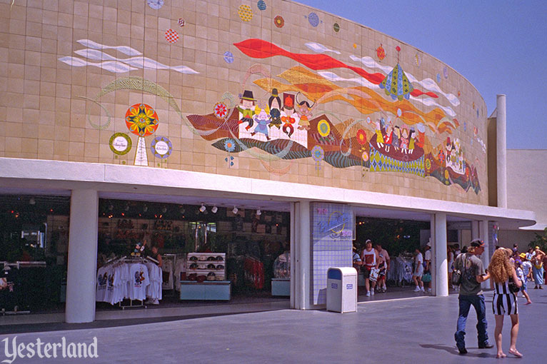 Mary blair tile murals at yesterland for Disneyland mural