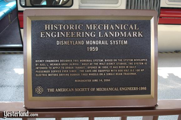 Photo of the Engineering Landmark Plaque