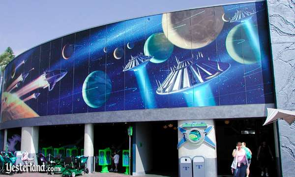 1998 tomorrowland mural at yesterland for Disneyland mural