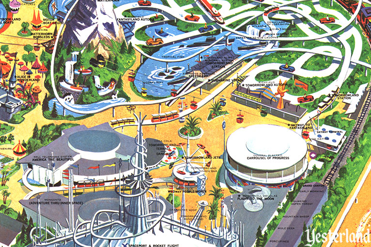 People Mover Map Yesterland: PeopleMover People Mover Map