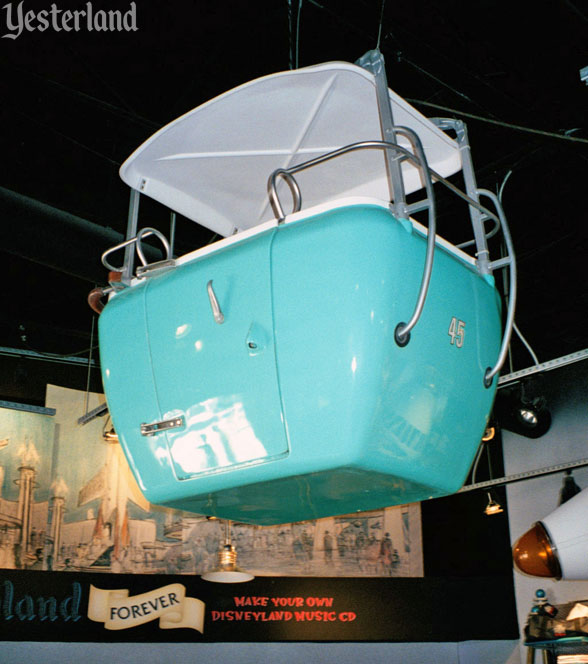 Retired Skyway bucket at Disneyland