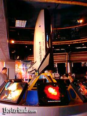 Photo of a model of the X-33 reusable launch vehicle at the American Space Experience
