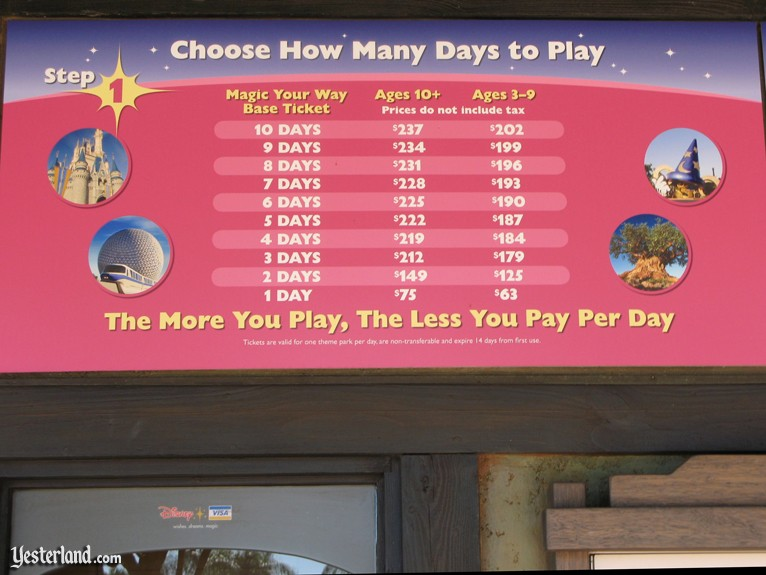 "Photo of ""Magic Your Way"" pricing sign"