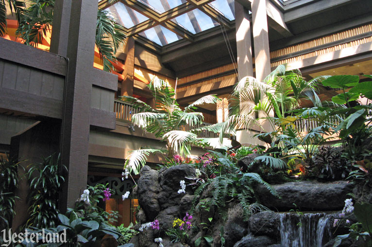 Yesterland Waterfall Garden at Disneys Polynesian Resort