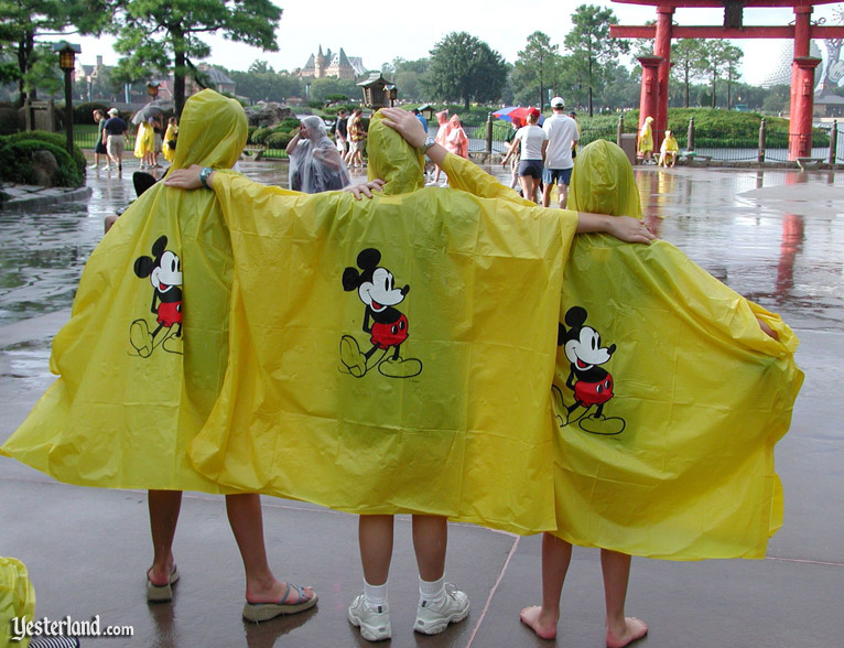 Yellow ponchos at Epcot, 2003