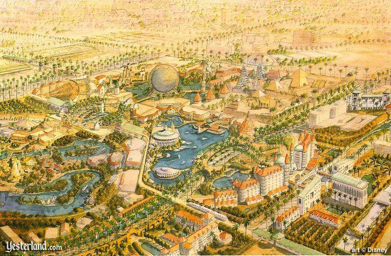 Disneyland Resort rendering from 1991